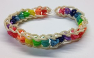 rainbow band white